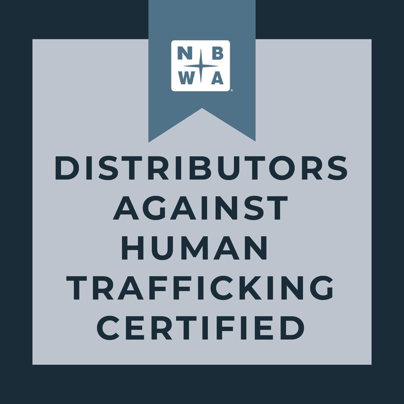 Distributors Against Human Trafficking Certificate Badge